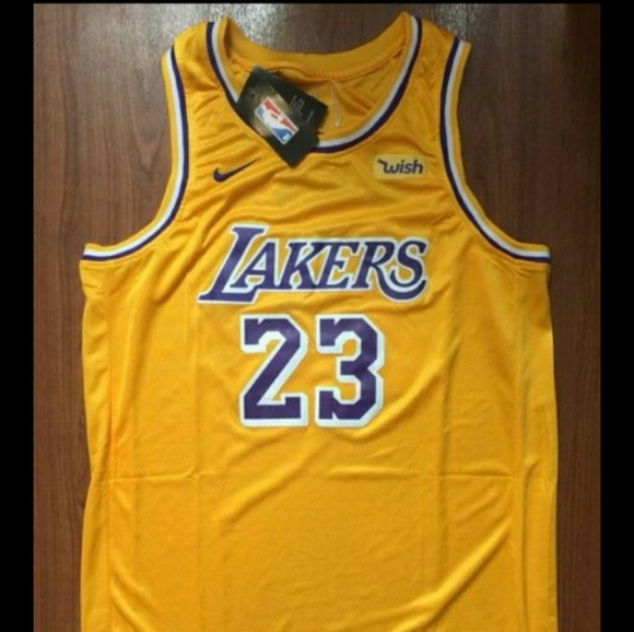best website 5ad8b 8ef64 Los Angeles Lakers #23 Lebron Yellow Jersey NWT